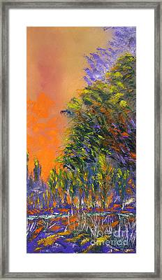 Paradise Aflame Framed Print by Ellen Young