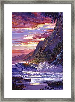 Paradise Beach Framed Print by David Lloyd Glover