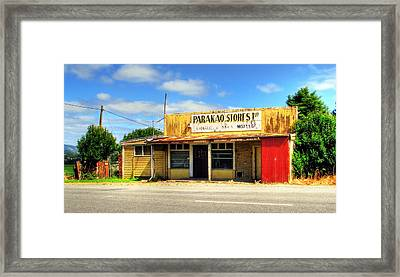 Parakoa Store New Zealand Framed Print by Andrew Simmonds