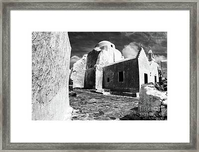 Paraportiani Church Mykonos Greece Framed Print by Bob Christopher