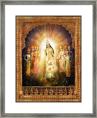 Parashakti Devi - The Great Goddess In Space Framed Print by Ananda Vdovic