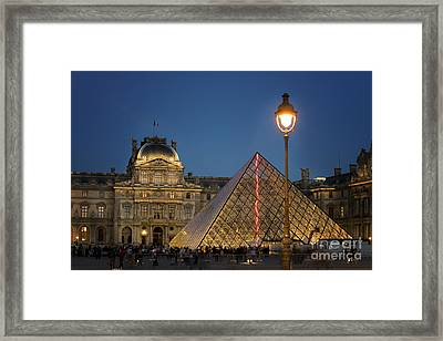 Louvre Museum At Twilight Framed Print by Juli Scalzi