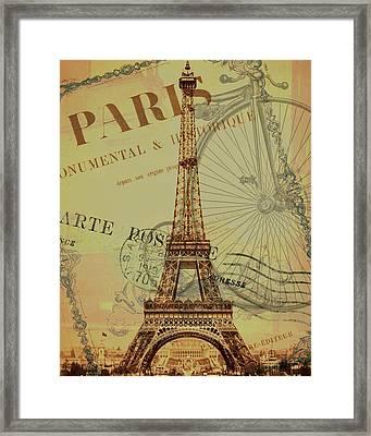 Paris Montage Framed Print by Erin Cadigan