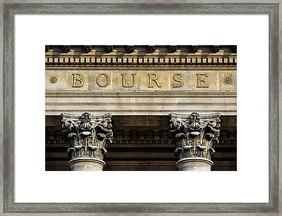 Paris Stock Exchange Framed Print by Dutourdumonde Photography