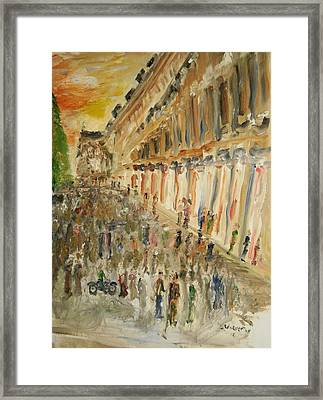 Paris Streets Framed Print by Edward Wolverton