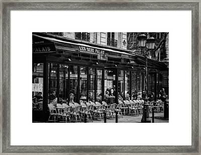 Parisian Cafe Framed Print by Andrew Soundarajan