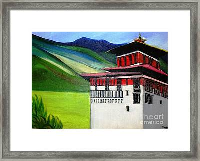 Paro Dzong Framed Print by Duygu Kivanc