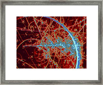 Particle Tracks Framed Print