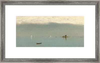 Passing Off Of The Storm Framed Print by John Frederick Kensett