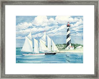 Passing The Light Framed Print by Paul Brent