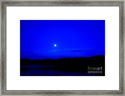 Passover Moon Over Lake Framed Print by Thomas R Fletcher