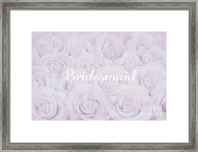 Pastel Purple Bride Framed Print