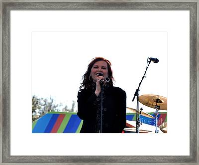 Pat Benatar Framed Print by John Black