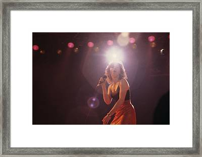 Pat Benatar Framed Print by Rich Fuscia