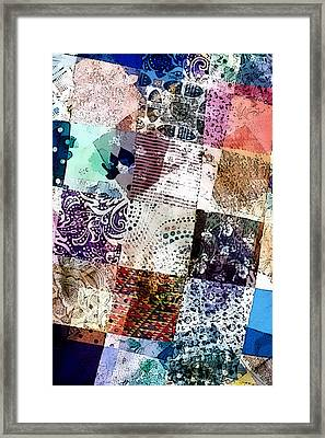 Patchwork Abstract Framed Print by Tom Gowanlock