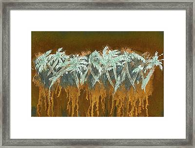 Patina Palms Framed Print by Larry Mora
