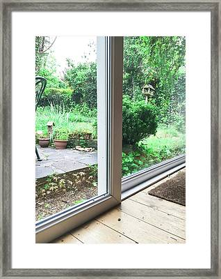 Patio Doors Framed Print by Tom Gowanlock