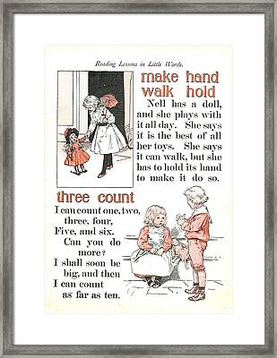 Patriot Abc Book Page Fourteen Framed Print by Reynold Jay