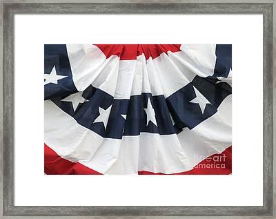 Patriotic Bunting Framed Print by Ann Horn