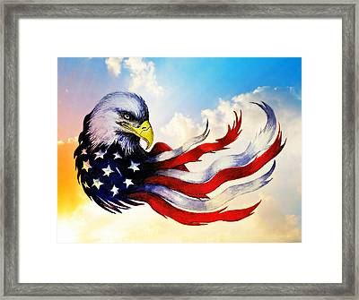 Patriotic Eagle Framed Print by Andrew Read