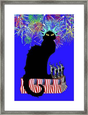 Patriotic Le Chat Noir Framed Print