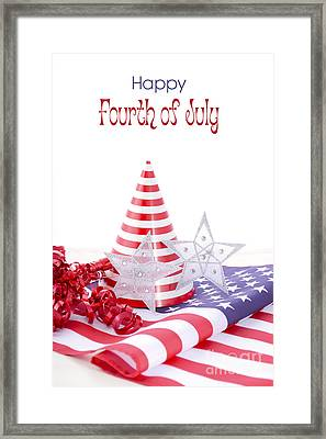 Patriotic Party Decorations For Usa Events Framed Print by Milleflore Images