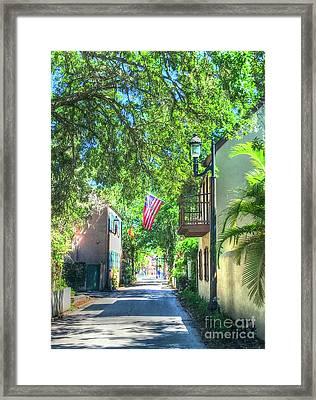 Patriotic Street Framed Print by Debbi Granruth