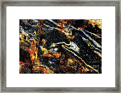 Framed Print featuring the photograph Patterns In Stone - 189 by Paul W Faust - Impressions of Light