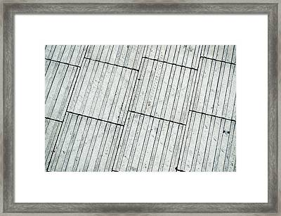 Paving Tiles Framed Print