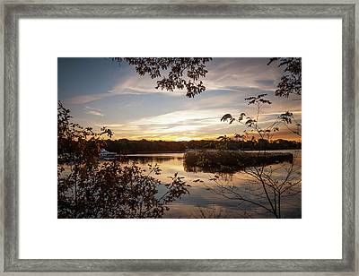 Framed Print featuring the photograph Pawcatuck River Sunrise by Kirkodd Photography Of New England