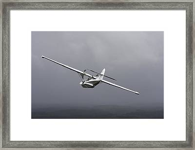 Pby Catalina Vintage Flying Boat Framed Print by Daniel Karlsson