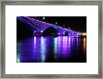 Peace Bridge Supporting Breast Cancer Awareness Framed Print by Michael Frank Jr