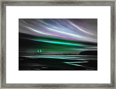 Peace Is Colorful Framed Print by Gina De Gorna