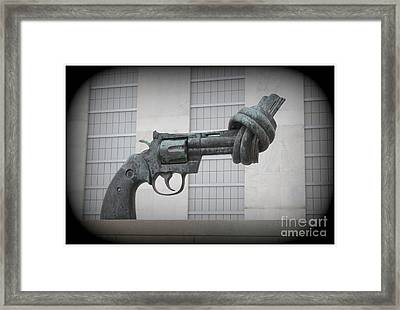 Peace Is The Answer - Iconic New York City Sculpture Framed Print by Dora Sofia Caputo Photographic Art and Design