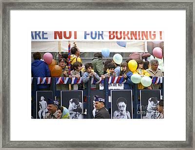 Peace March 1967 Framed Print by Erik Falkensteen