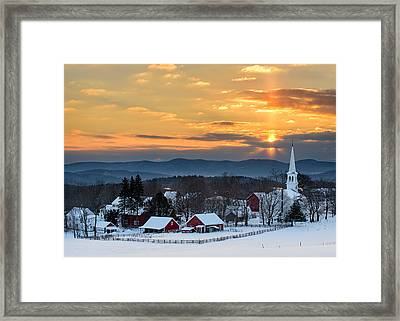Peace Over Peacham Framed Print by Michael Blanchette