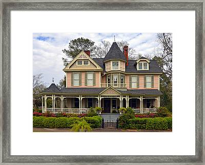 Peach Bainbridge Beauty Framed Print by Carla Parris
