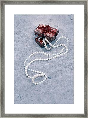 Pearl Necklace Framed Print by Joana Kruse