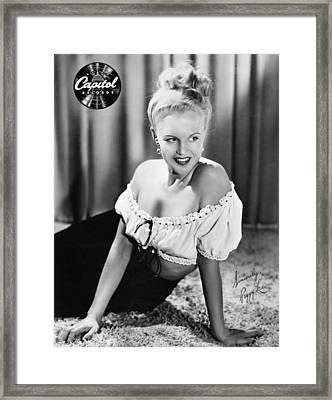Peggy Lee (1920-2002) Framed Print by Granger