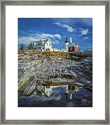 Pemaquid Reflections Framed Print