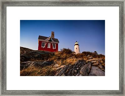 Framed Print featuring the photograph Pemaquid Sky by Robert Clifford