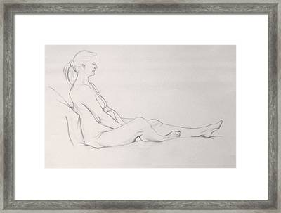 Pencil Sketch 11.2010 Framed Print
