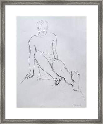 Pencil Sketch 2.2011 Framed Print