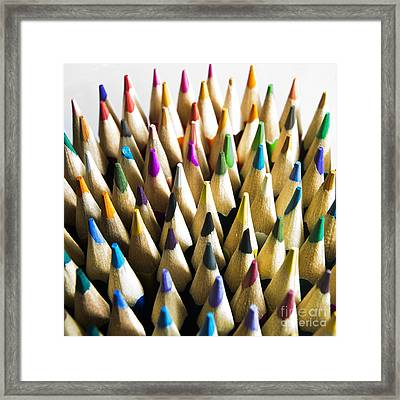 Pencils Framed Print by Bernard Jaubert