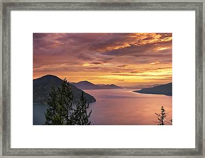 Pend Oreille Sunrise Framed Print