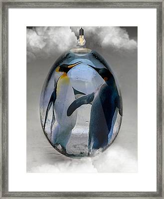Penguin Art Framed Print by Marvin Blaine