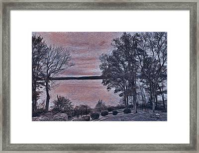 Framed Print featuring the painting Pennsylvania Landscape by Joan Reese