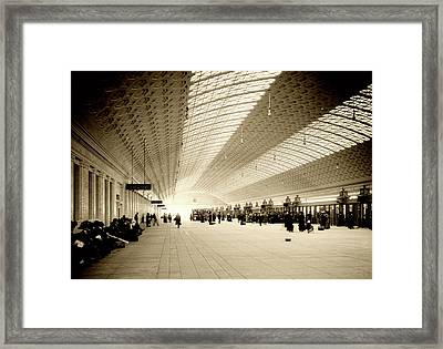 Pennsylvania Station Concourse C1915 Framed Print by L O C