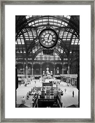 Pennsylvania Station, Interior, New Framed Print by Everett