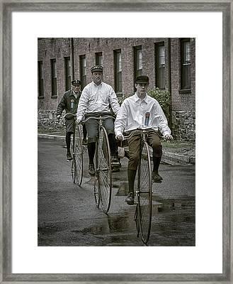 Penny Farthing Bikes Framed Print